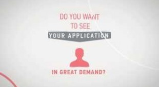Animated video for application and services